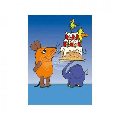"""Postkarte """"Geburtstagstorte"""" - Sendung mit der Maus"""