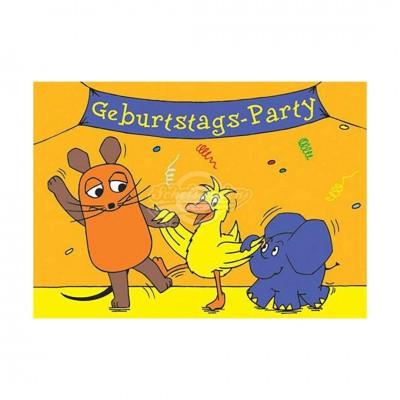"""Postkarte """"Geburtstagsparty"""" - Sendung mit der Maus"""