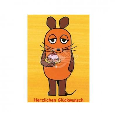 """Postkarte """"Herzlichen Glückwunsch"""" - Sendung mit der Maus"""