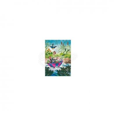 """Postkarte """"Regenschirmboot"""" - kleiner Maulwurf"""