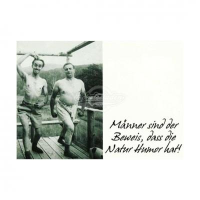 """Postkarte """"Männer sind der Beweis"""""""