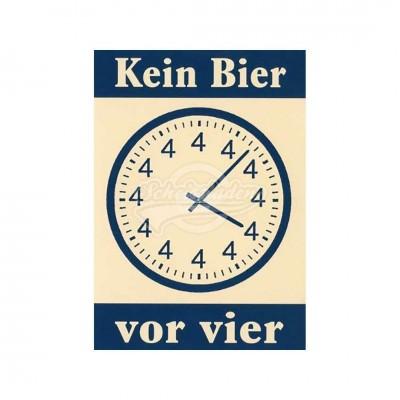 "Postkarte ""Kein Bier vor 4"""