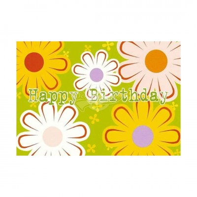 "Postkarte ""Happy Birthday"" - Blumen"