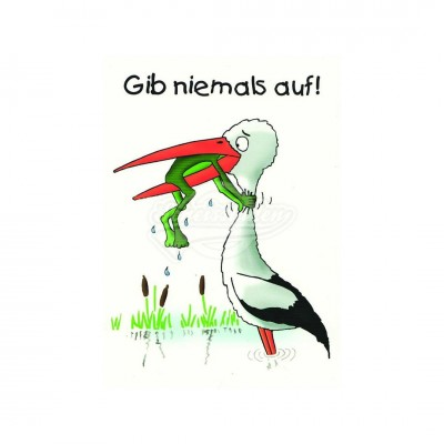 "Postkarte ""Gib niemals auf"""