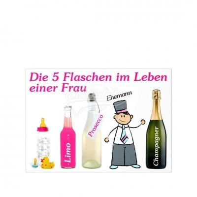 """Postkarte """"5 Flaschen Frauen"""""""