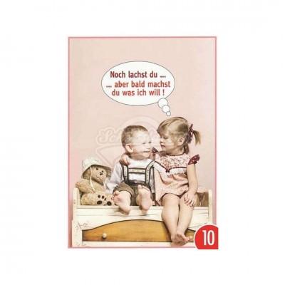 "Postkarte ""Noch lachst du"""