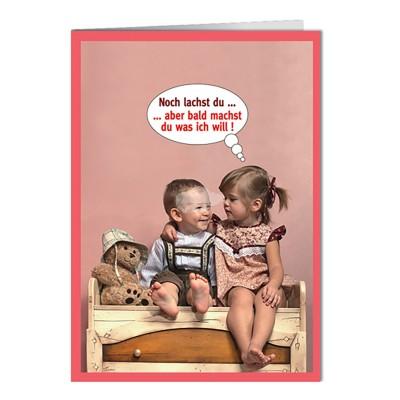 """Briefkarte """"noch lachst du"""""""
