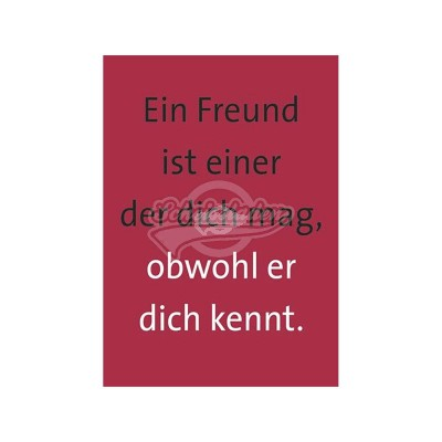 """Briefkarte """"Ein Freund"""""""