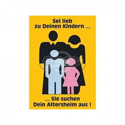 """Postkarte """"Sei lieb zu deinen Kindern"""""""
