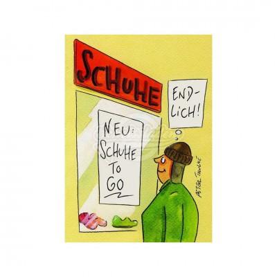 "Postkarte ""Schuhe to go"""