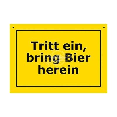 """Türschild Baustellenschild """"Tritt ein"""" - Verbotene Schilder"""