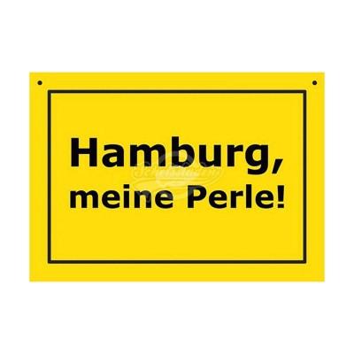 """Türschild Baustellenschild """"Hamburg - Meine Perle"""" - Verbotene Schilder"""