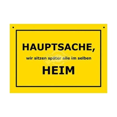 """Türschild Baustellenschild """"Im selben Heim"""" - Verbotene Schilder"""
