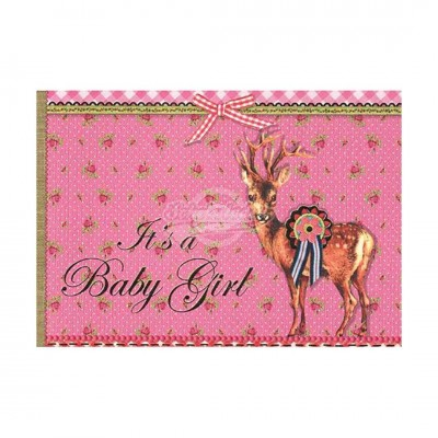 "Briefkarte ""Its a Girl"" - PIP Studio"