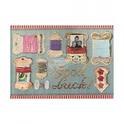 "Briefkarte ""Good Luck Embroi"" - PIP Studio"