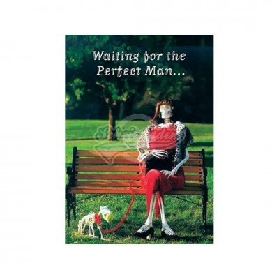 "Postkarte ""Waiting for the perfect man"""