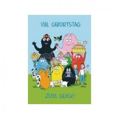 "Postkarte ""Viel Geburtstag"" - Barbapapa."