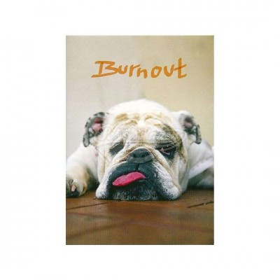 "Postkarte ""Burnout"""