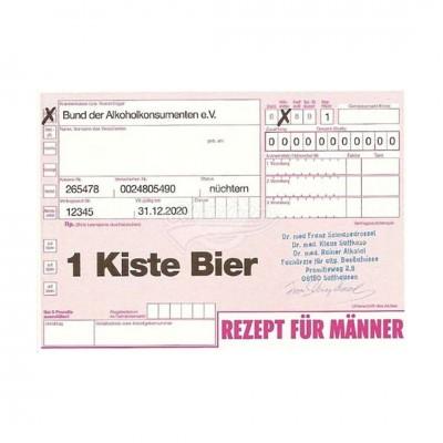 "Postkarte ""Rezept für Männer"" - Rezept"