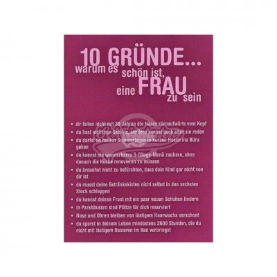 """Postkarte """"10 Gründe Frau"""""""