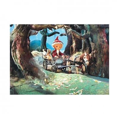 """Postkarte """"Sandmännchen auf Pferdefuhrwerk im Wald"""" - Das Sandmännchen"""