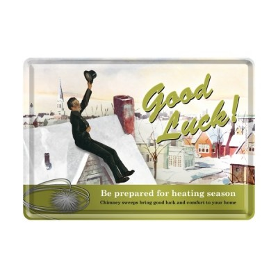 """Blechpostkarte """"Good Luck"""" Nostalgic Art-Auslaufartikel"""