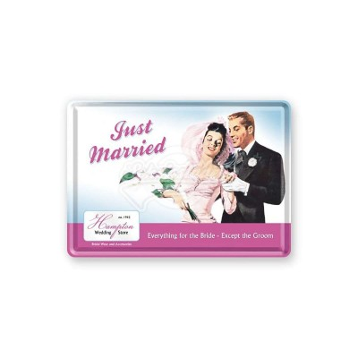 "Blechpostkarte ""Just Married"" Nostalgic Art"