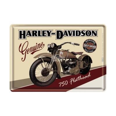 "Blechpostkarte ""Harley Davidson Flathead"" Nostalgic Art"
