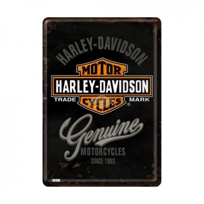 "Blechpostkarte ""Harley-Davidson Genuine Logo"" Nostalgic Art"