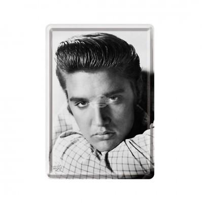 "Blechpostkarte ""Elvis Portrait"" Nostalgic Art"