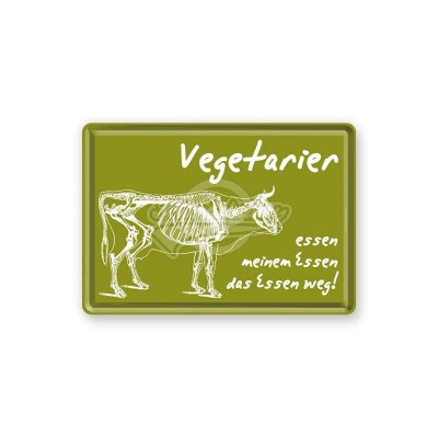"Blechpostkarte ""Vegetarier"" Nostalgic Art-Auslaufartikel"