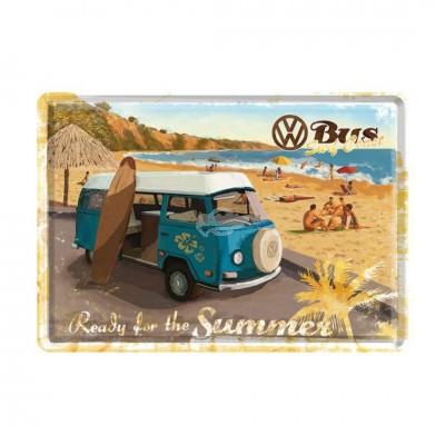 """Blechpostkarte """"Ready for the summer"""" Nostalgic Art"""