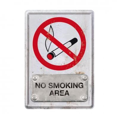 "Blechpostkarte ""No Smoking Area"" Nostalgic Art"