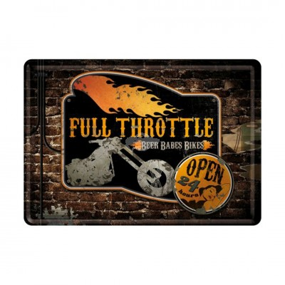 "Blechpostkarte ""Full Throttle - USA"" Nostalgic Art-Auslaufartikel"