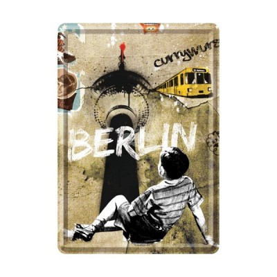 """Blechpostkarte """"Berlin"""" Nostalgic Art"""