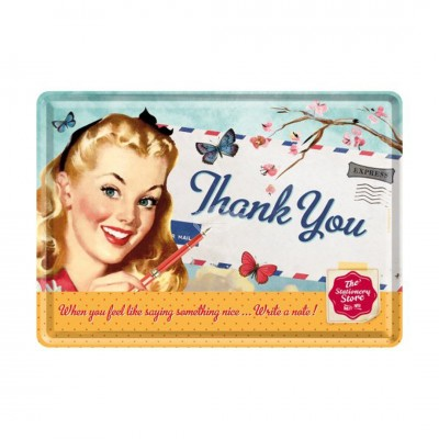 "Blechpostkarte ""Thank You Girl"" Nostalgic Art"