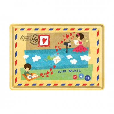 "Blechpostkarte ""Air Mail"" - Nostalgic Art-Auslaufartikel"