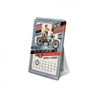 "Blechpostkarte Kalender ""Blue - Best Garage"" Nostalgic Art"