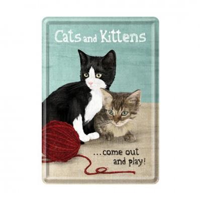 "Blechpostkarte ""Cats and Kittens"" - Nostalgic Art"