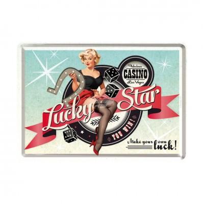 "Blechpostkarte ""Lucky Star"" - Nostalgic Art"