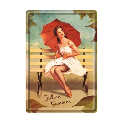 """Blechpostkarte """"Indian Summer"""" Nostalgic Art"""