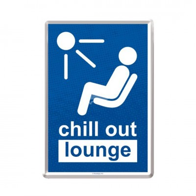 "Blechpostkarte ""Chill out Lounge"" Nostalgic Art"