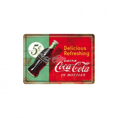 "Blechpostkarte ""Delicious Coca Cola"" - Nostalgic Art"