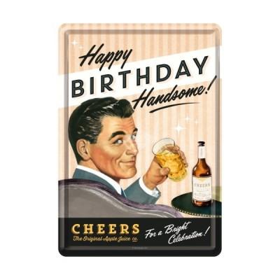 """Blechpostkarte """"Say It 50s - Happy Birthday Man"""" Nostalgic Art"""