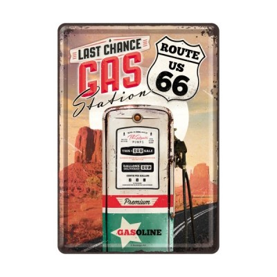"Blechpostkarte ""Gas Station – Route 66"" - Nostalgic Art"