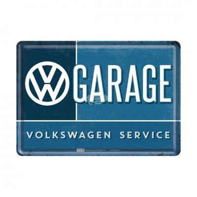 "Blechpostkarte ""Garage – VW"" - Nostalgic Art"