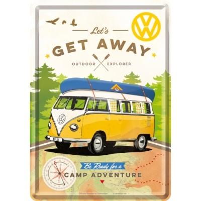 """Blechpostkarte """"VW - Get Away"""" Nostalgic Art"""