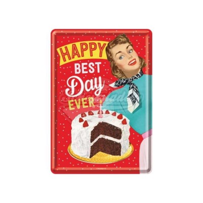 "Blechpostkarte ""Happy Best Day"" Nostalgic Art"