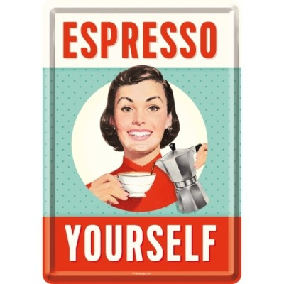 "Blechpostkarte ""Espresso Yourself"" Nostalgic Art"