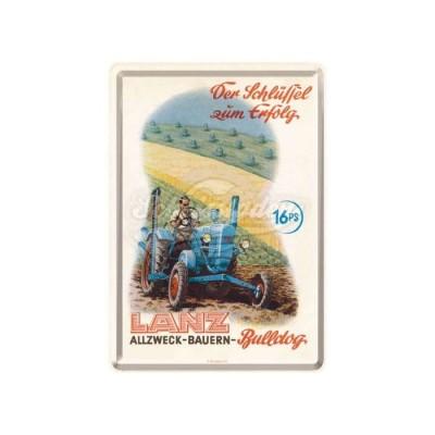 "Blechpostkarte ""Lanz - Schlüssel"" Nostalgic Art"